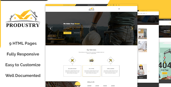 Produstry- Construction Multipage Template