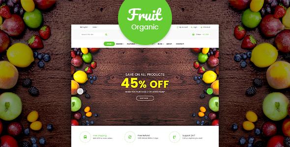 Fruitshop –  Responsive WooCommerce WordPress Theme