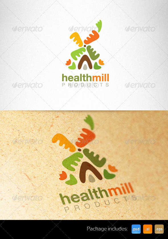 Health Mill Creative Logo Template - Nature Logo Templates