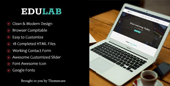 Edulab – Education HTML5 Template
