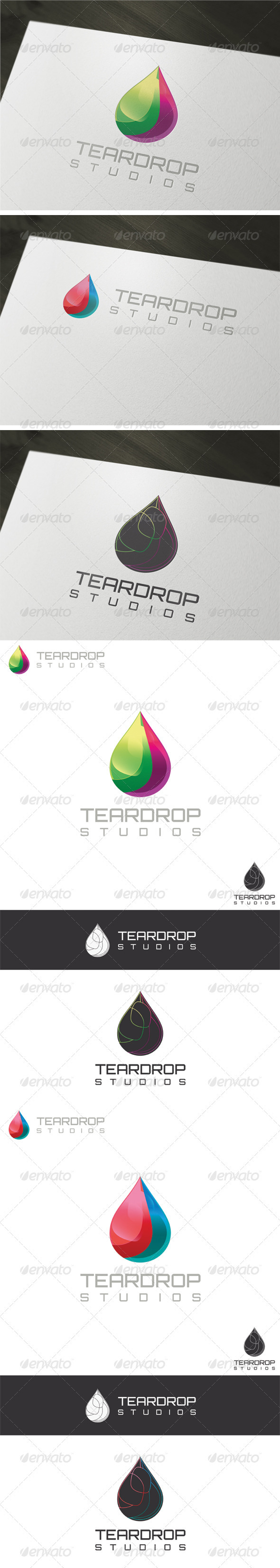 3D Teardrop Logo Template - Vector Abstract