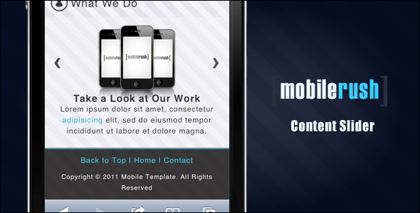 MobileRush Liquid Mobile Site Template - 6 Colors