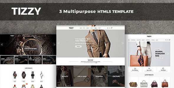 Tizzy ResponTizzy – Responsive Multipurpose E-Commerce HTsive Multipurpose E-Commerce HTML5 Template