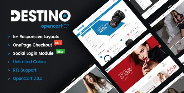 Destino – Advanced & High Customizable eCommerce OpenCart 2.3 Theme