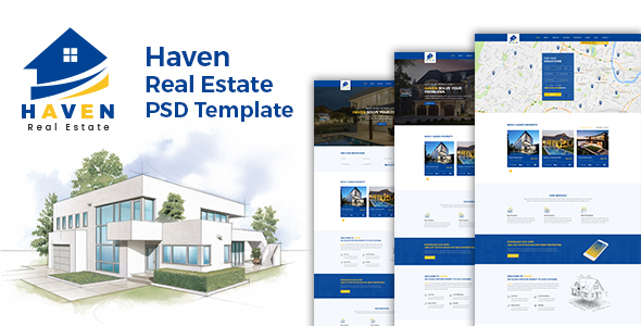 Haven – Real Estate PSD Template