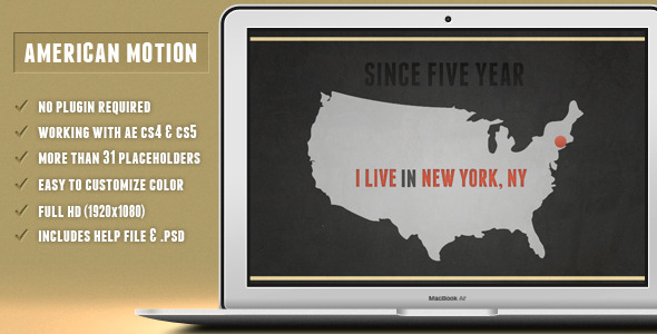 After Effects Project - VideoHive American Motion 1945786