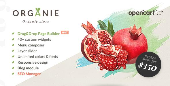 Organie – Organic Store, Farm, Plant & Flower Shop OpenCart Theme