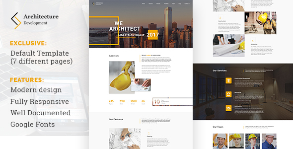 Architecture Development – Modern Constuction WordPress Theme