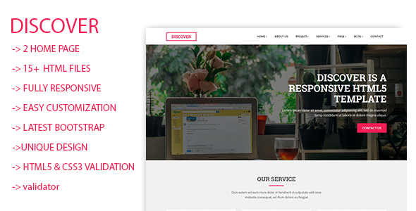Discover Html5 Responsive Template