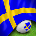 Soccer ball and flag euro Sweden - PhotoDune Item for Sale