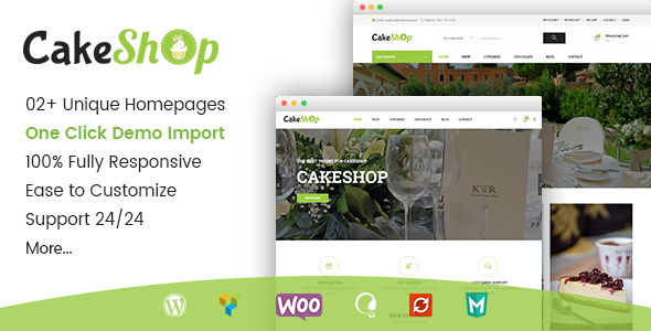 Gon CakeShop – Responsive WooCommerce WordPress Theme