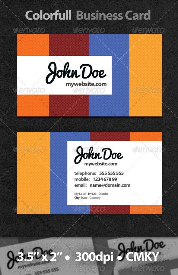 GraphicRiver Colorful Business Card 226992