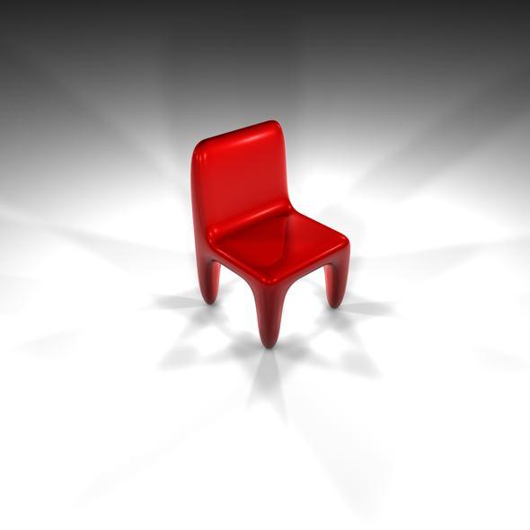 3DOcean Futuristic Red Chair 75214