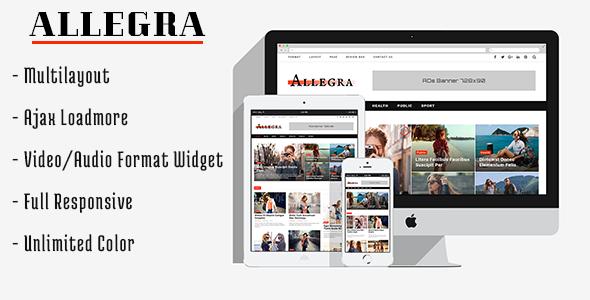 Allegra – A Multilayout Blog & Magazine Theme
