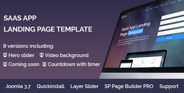 Lyra – SaaS App Landing Page Multipurpose Joomla Template with page builder