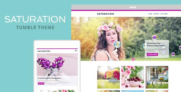 Saturation Tumblr Theme