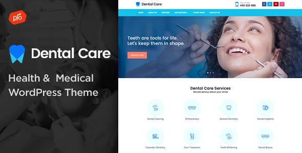 Dental Care Pro – Health & Medical Theme