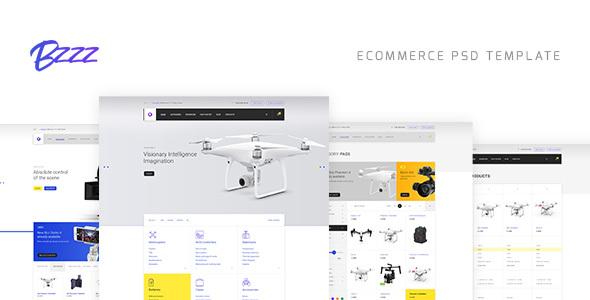 Bzzz – Gadgets eCommerce PSD Template