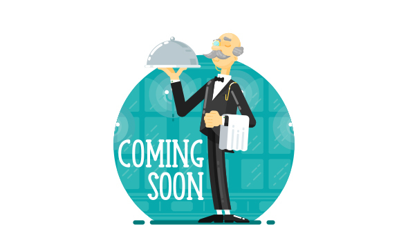 SVG Coming SoonUnder Construction Creative Page – Waiter