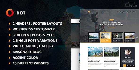 Dot Blog Pro – Creative Blog WordPress Theme
