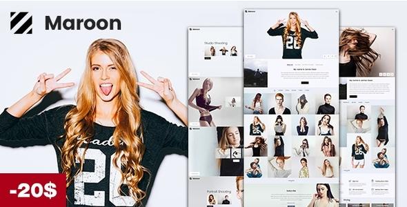 Maroon | Photography WordPress Theme