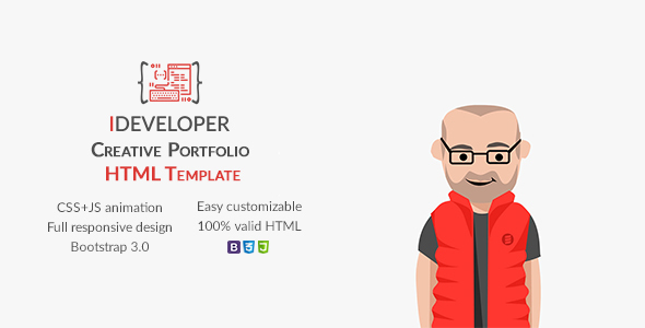 iDeveloper – Creative Personal Portfolio Template