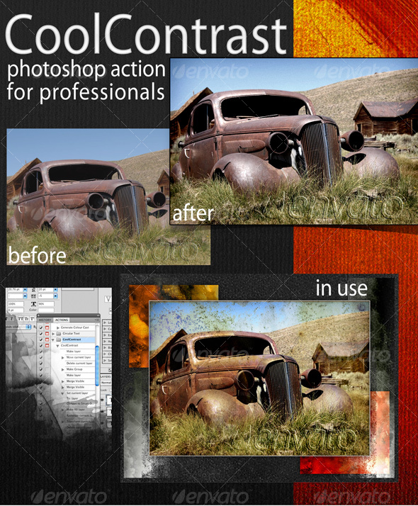 CoolContrast Photoshop Action - Photo Effects Actions