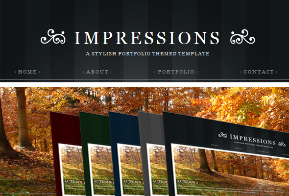 Impressions - HTML version - Preview image of the impressions theme