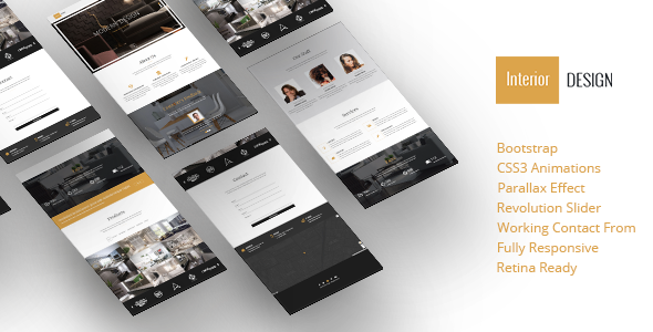 Interior Design – Bootstrap One-Page Template