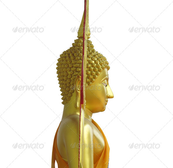 Buddha's side face - Stock Photo - Images