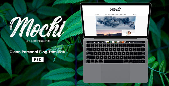 Mochi – Clean Personal Blog PSD Template