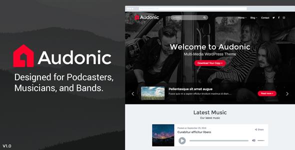 Audonic – Music & Podcasting WordPress Theme
