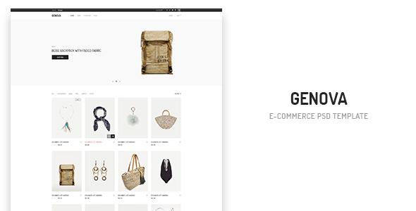 Genova – eCommerce PSD Template