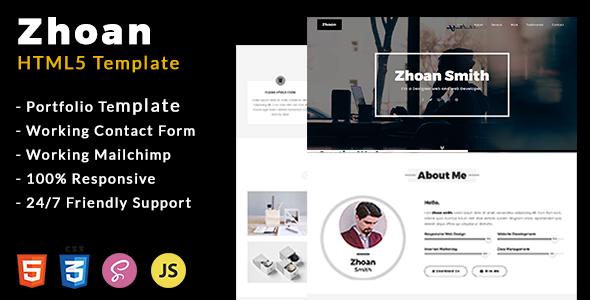 Zhoan – Personal Portfolio Template