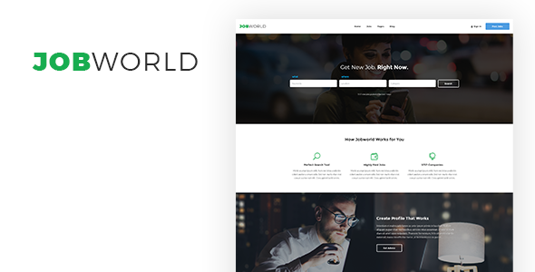 Job Portal Template   Job World