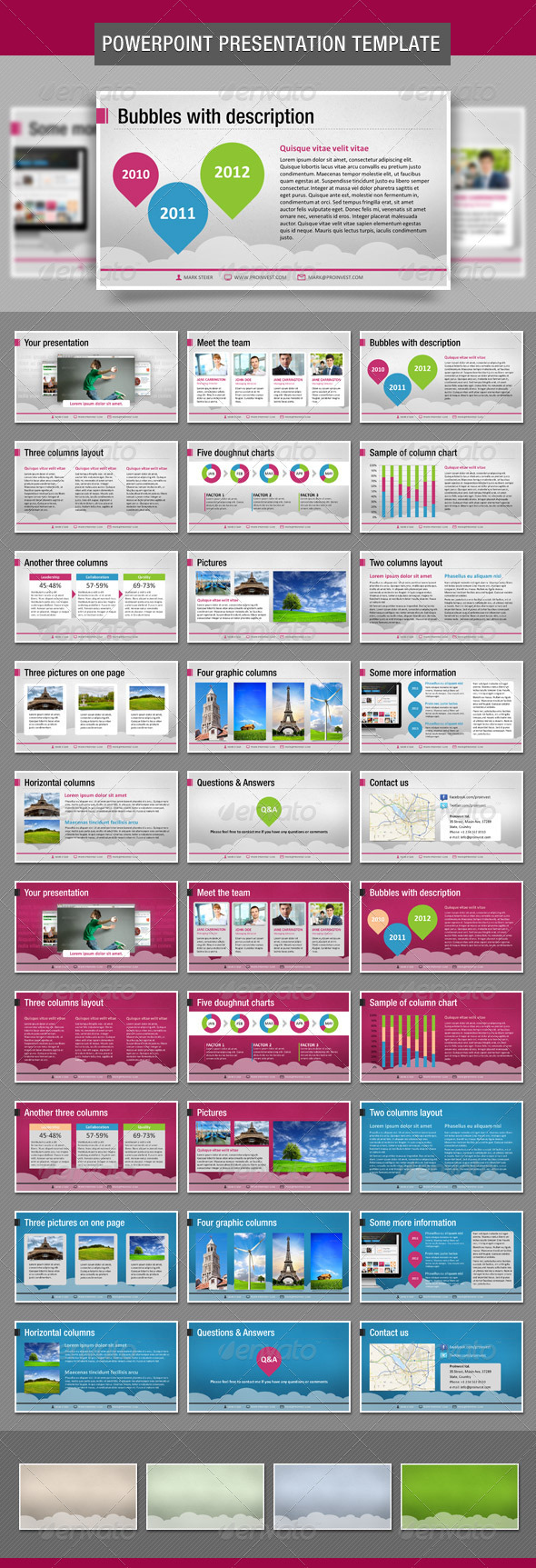Bubbles PowerPoint Presentation Template - Business Powerpoint Templates