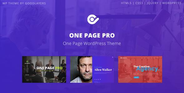 One Page Pro – Multi Purpose OnePage WordPress Theme