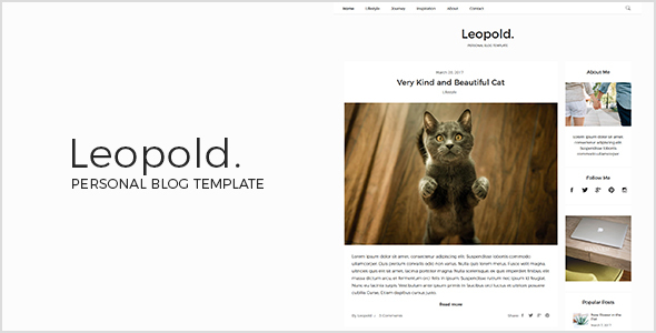 Leopold – Personal Blog Template