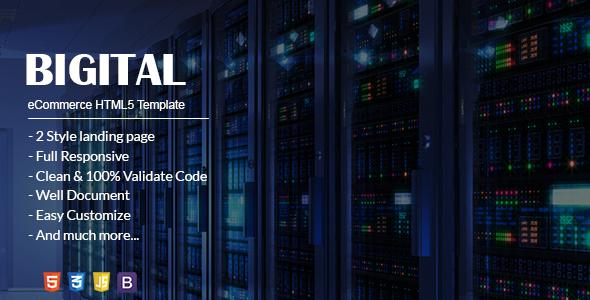 Bigital – Hosting and Digital Solution Landing Page