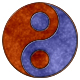 Coloured Rust Ying Yang - GraphicRiver Item for Sale