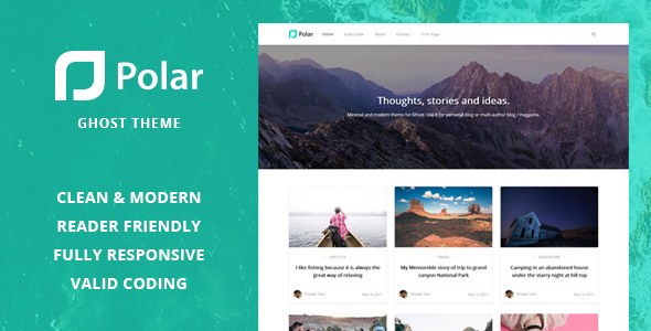 Polar – Minimal Blog and Magazine Ghost Theme.zip