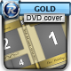 Gold Wedding DVD Cover - GraphicRiver Item for Sale