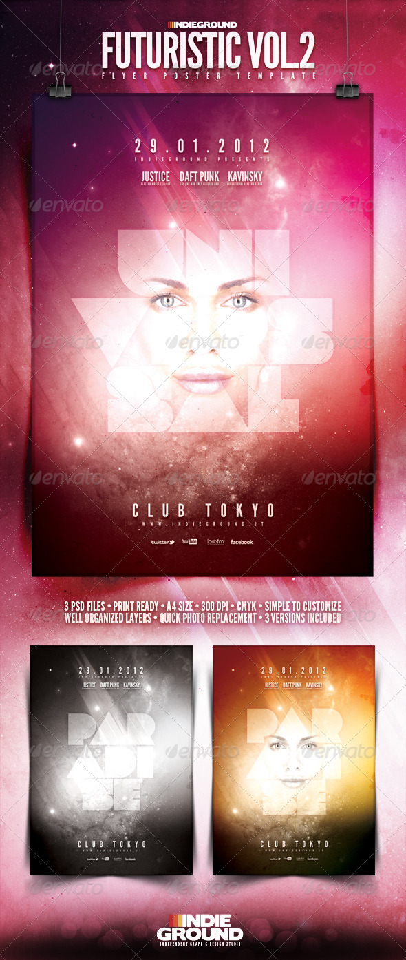 Futuristic Flyer/Poster Vol. 2 - Clubs & Parties Events