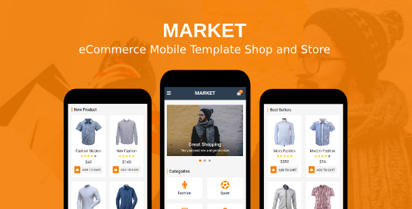 Market – eCommerce Mobile Template Shop and Store