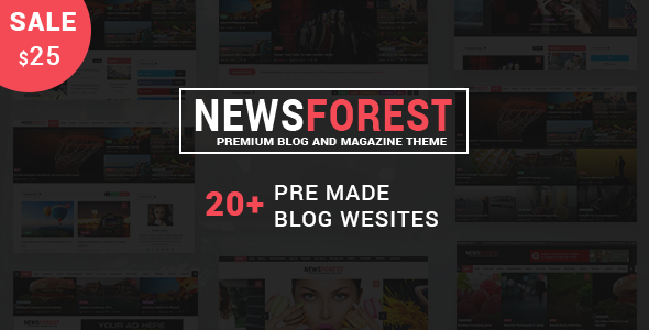 NewsForest –  Magazine / Blog WordPress Theme + RTL