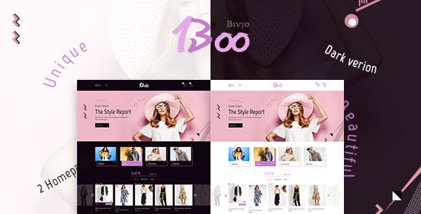 BooShop – Unique Fashion PSD Template
