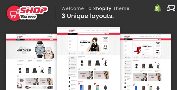 Shop Town – Sectioned Multipurpose Shopify Theme