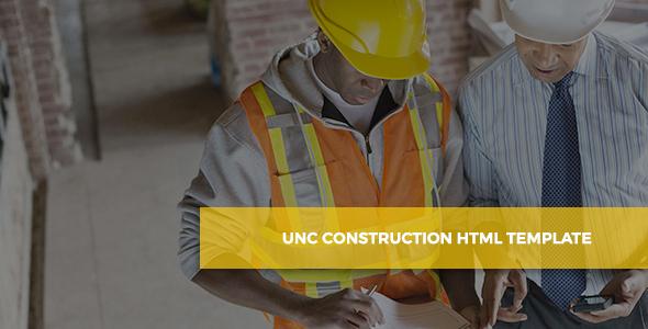 Unc Construction – Construction Business, Building Company Template