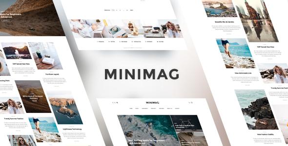 MINIMAG – Magazine & Blog PSD Template