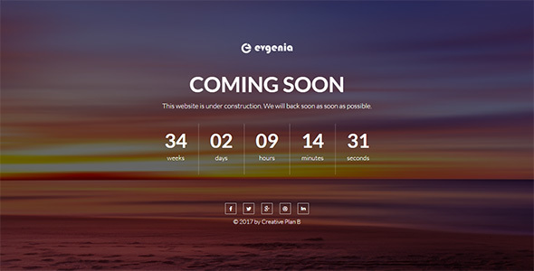Evgenia Coming Soon Template